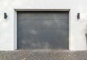 porte de garage sectionnelle gris anthracite