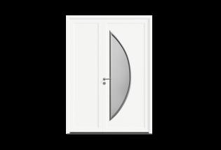 Porte d'entrée PVC tiercé Passionnante
