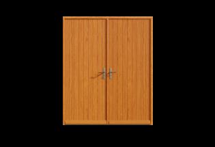 Porte d'entrée bois 2 vantaux Chaleureuse