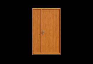 Porte d'entrée bois tiercé Chaleureuse