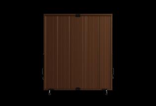 Persienne coulissante en aluminium brun sépia L800 x H950 COURAGEUSE