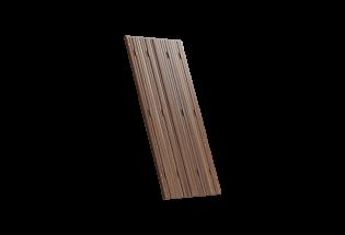 Persienne repliable 4 vantaux avec projection en bois lasure noyer L750 x H850 MERVEILLEUSE