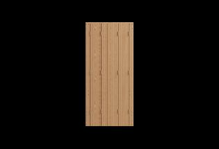 Persienne repliable 4 vantaux en bois lasure châtaignier L750 x H900 HABILE