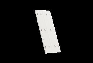 Persienne repliable en PVC 4 vantaux avec projection blanche L750 x H800 SYMPATHIQUE