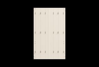 Persienne repliable en PVC beige L800 x H900 SYMPATHIQUE