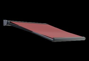 Store banne design rouge carmin L2800 x A1600 DISCRET