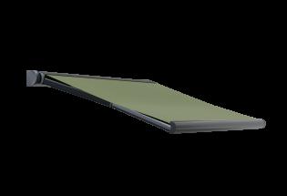 Store banne design vert fougère L2500 x A1600 DISCRET