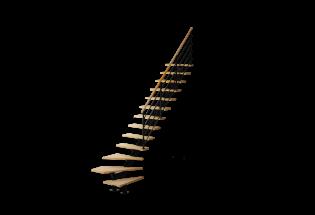 Escalier limon quart tournant en hêtre et aluminium H2740 AVENANT