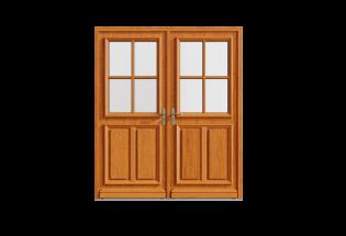 Porte d'entrée bois 2 vantaux Productive