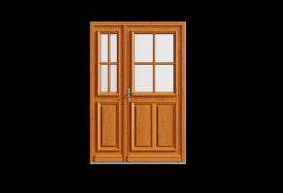 Porte d'entrée bois tiercé Productive
