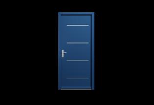Porte pavillonnaire blindée bleu saphir L950 x H2150 HEUREUSE