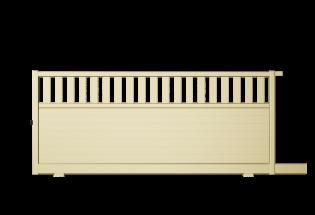 Portail coulissant en aluminium ivoire clair L2500 x H1281 HABILE