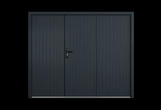 Porte de garage battante aluminium 3 vantaux Energique