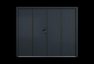 Porte de garage battante aluminium 4 vantaux Enthousiaste
