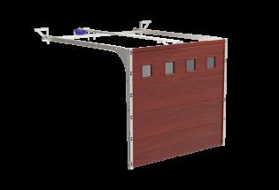 Porte de garage sectionnelle chêne doré L2500 x H2100 DELICATE