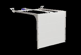 Porte de garage sectionnelle blanche L2500 x H2000 AIMABLE