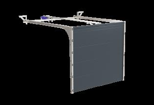 Porte de garage sectionnelle gris anthracite L2500 x H2000 RIGOUREUSE