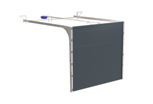 Porte de garage sectionnelle aluminium Rigoureuse