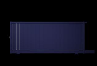 Portail coulissant en aluminium bleu saphir L2500 x H1231 LUCIDE