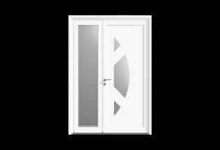 Porte d'entrée PVC Tiercé Généreuse