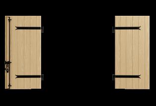 Volet battant bois 2 vantaux Aventureux 27mm