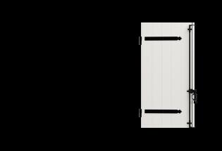 Volet battant PVC 1 vantail Intelligent 28mm