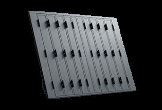 Persienne repliable aluminium 10 vantaux projection Raisonnable