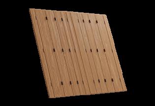 Persienne repliable bois 10 vantaux projection Habile
