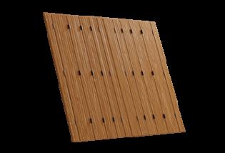 Persienne repliable bois 10 vantaux projection Merveilleuse
