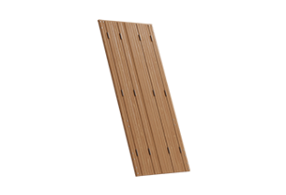 Persienne repliable bois 4 vantaux projection Habile