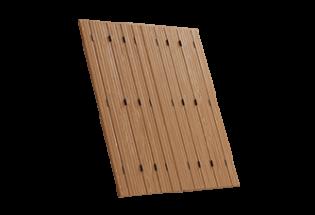 Persienne repliable bois 8 vantaux projection Habile