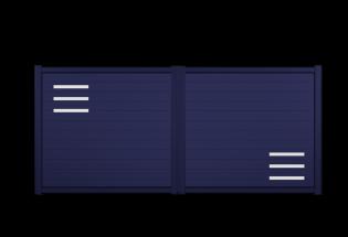 Portail battant en aluminium bleu saphir L2500 x H1257 PETILLANT