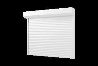 Porte de garage enroulable blanche L2500 x H2100 DOUCE