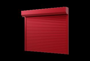 Porte de garage enroulable rouge pourpre L2000 x H2000 DOUCE