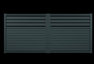 Portail battant aluminium Polyvalent