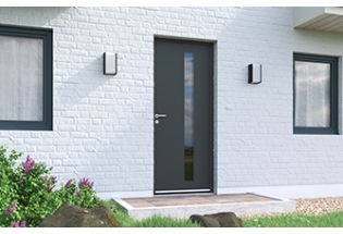 Porte d'entrée aluminium Soigneuse