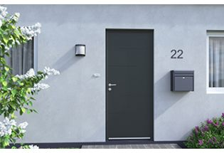 Porte d'entrée aluminium Attentive