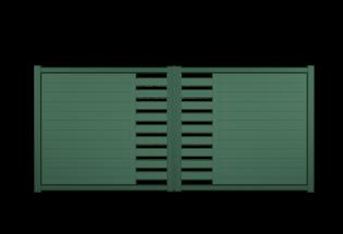 Portail battant en aluminium vert mousse L2500 x H1257 POSITIF