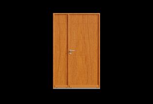 Porte d'entrée bois tiercé Vaillante