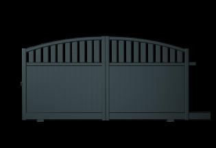 Portail coulissant en aluminium gris anthracite L2500 x H1231 PROTECTEUR