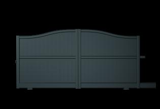 Portail coulissant en aluminium gris anthracite L2500 x H1386 SERVIABLE