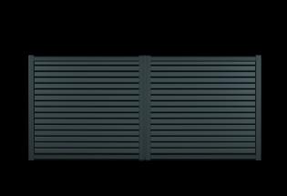 Portail battant en aluminium gris anthracite L2500 x H1257 GENTIL