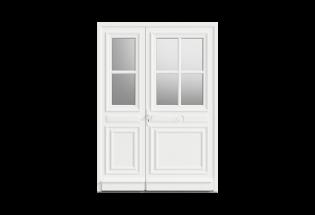 Porte d'entrée PVC tiercé Paisible