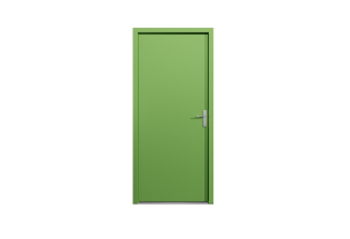 Porte palière blindée vert prairie L950 x H2150 VISIONNAIRE