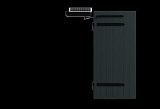 Volet battant aluminium solaire 1 vantail sans cadre Ensoleillé 27mm