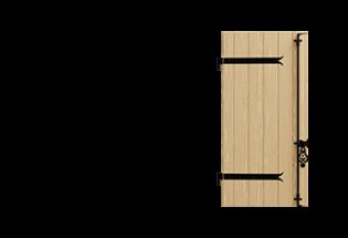 Volet battant bois 1 vantail Aventureux 27mm
